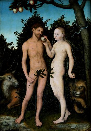 3 Lucas Cranach El Viejo Adán y Eva