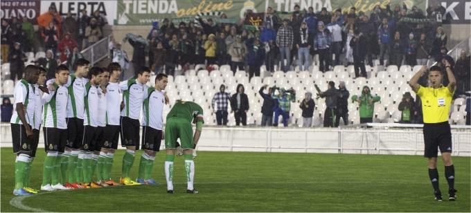 El Racing de Santader se niega a jugar el partido de Copa del Rey como protesta. Foto Reuters Cordon Press