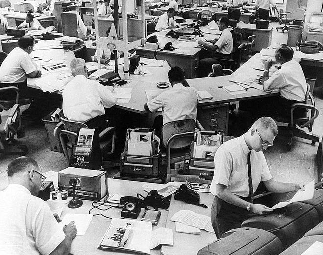 Redacción del Toronto Star alrededor de 1964 (DP).