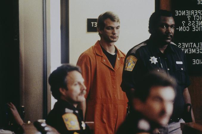 Dahmer durante las comparecencias de su juicio. Fotografía: Corbis
