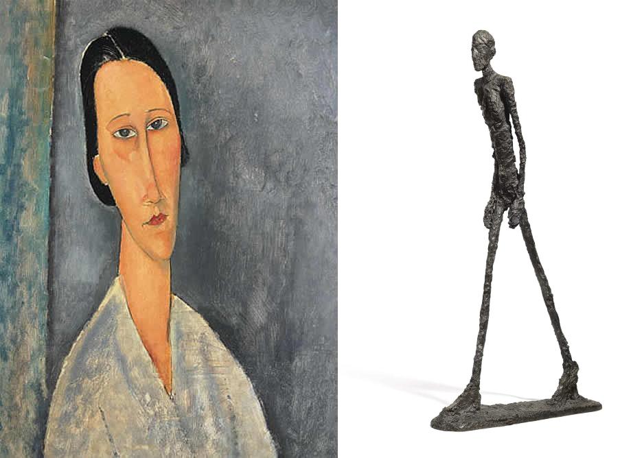 Modigliani y Giacometti alargando la realidad. Así me imagino a los habitantes de Tlön.