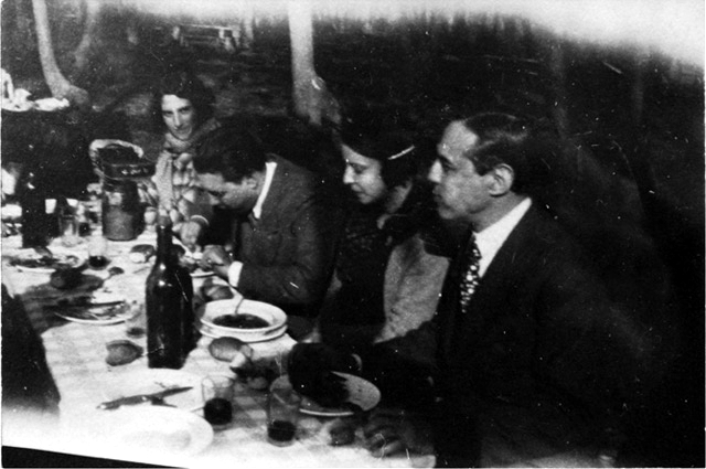 Xul Solar y Jorge Luis Borges, comida porteña. (DP)
