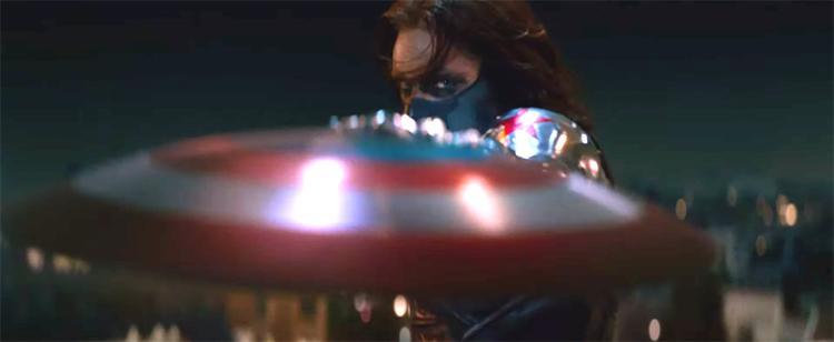 Las Barras y Estrellas contra la Estrella Roja. Y un poco de Rimmel. Foto: Marvel Studios