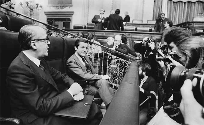 Adolfo Suarez y Leopoldo Calvo Sotelo en febrero de 1981. Fotografía: Cordon Press.