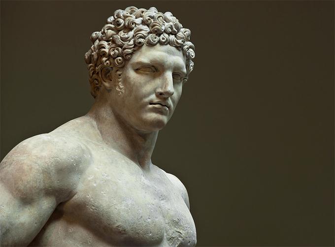 Hercules joven una estatua romana c. 69 96 A.C. Fotografía cortesía de Dansshots.2