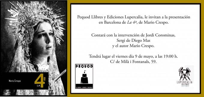 Invitación Ediciones Lupercalia La 4Mario Crespo barcelona