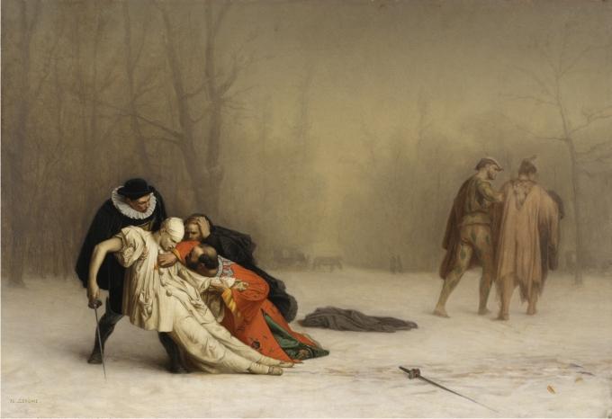 Duelo después del baile de máscaras, Jean-Léon Gérôme.