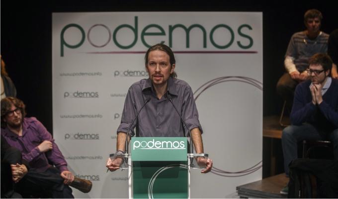 Pablo Iglesias en la presentación de Podemos, junio de 2014. Foto: Cordon Press.