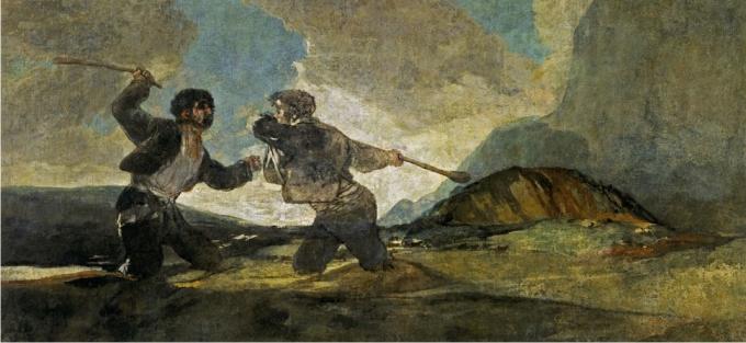 Duelo a garrotazos, Francisco de Goya.