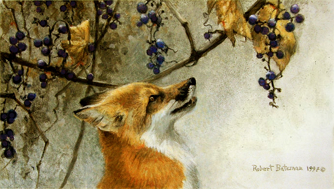 4-FOX-AND-GRAPES,-ROBERT-BATEMAN-robertbateman.ca