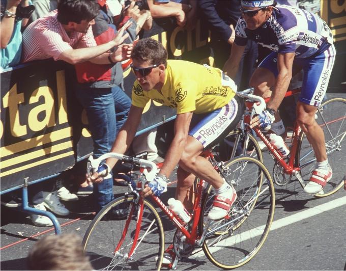 Pedro Delgado en la Vuelta Ciclista a España. Foto: Cordon Press.