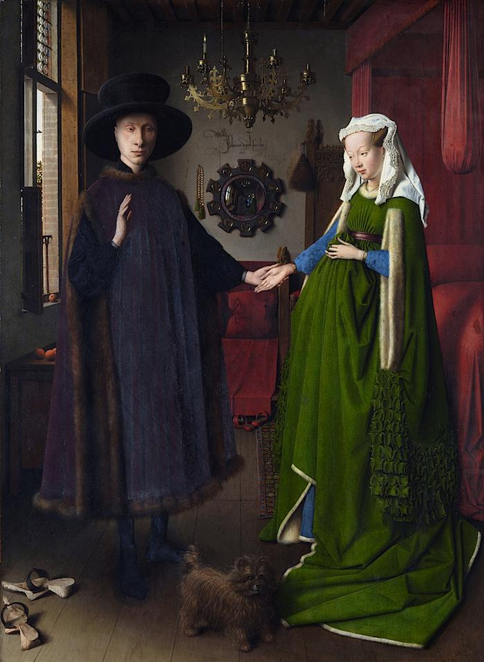 Retrato del matrimonio Arnolfini. Jan van Eyck (1434). National Gallery de Londres.