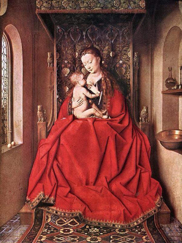 La Virgen de Lucca. Jan van Eyck (1436). Städel Museum de Frankfurt.