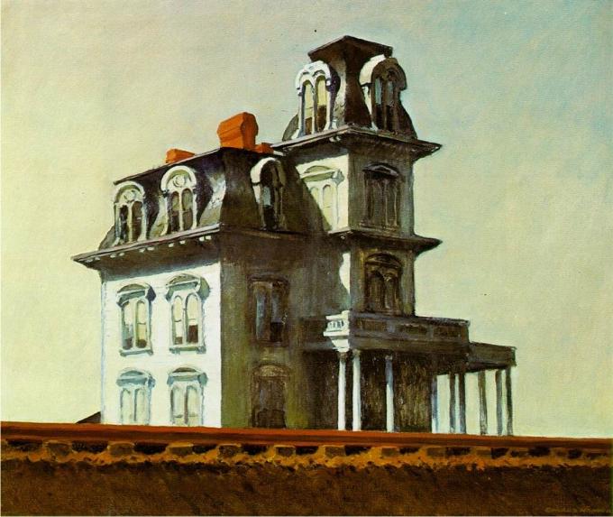 Casa Junto a las vía de tren, de Edward Hopper
