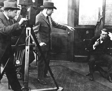David Wark Griffith en el rodaje de The scape. Foto DP