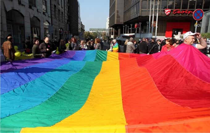 Desfile del Orgullo Gay en Belgrado, 10 de octubre de 2010. Foto: Cordon Press.