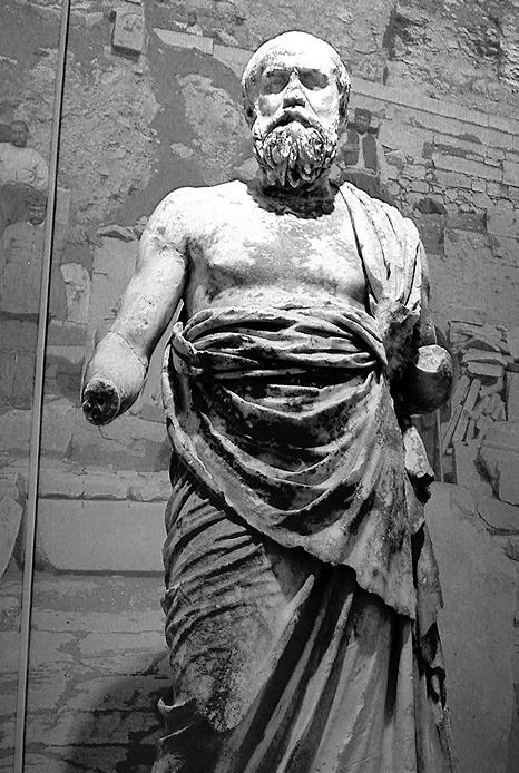 Estatua posiblemente de Plutarco. Museo arqueológico de Delfos, Grecia. Foto: Ricardo André Frantz. (CC)