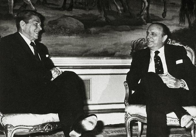 Fraga y Ronald Reagan el 7 de mayo de 1985 RTVE