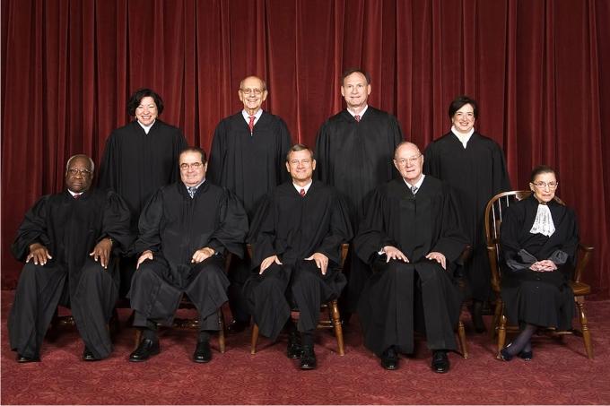 Miembros actuales del Tribunal Supremo norteamericano. Foto: Steve Petteway (DP)