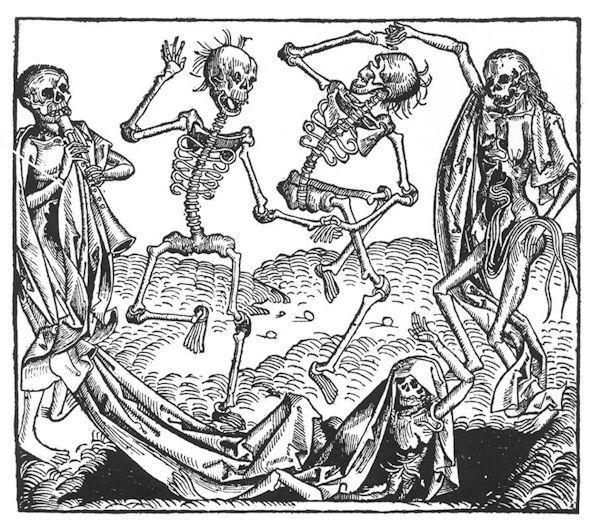 Crónica de Nüremberg, Danza macabra, Michael Wolgemut 1493.
