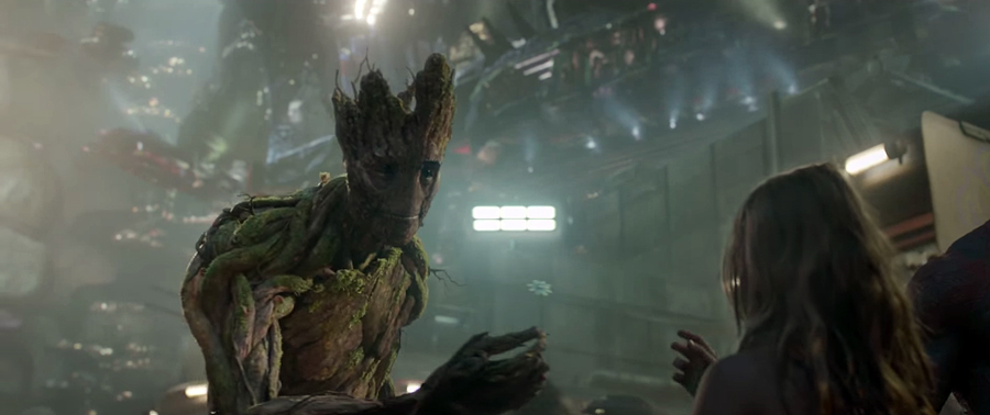 I am Frankenstein… digoooo, I am Groot. Imagen: Marvel Studios / Walt Disney Studios Motion Pictures.