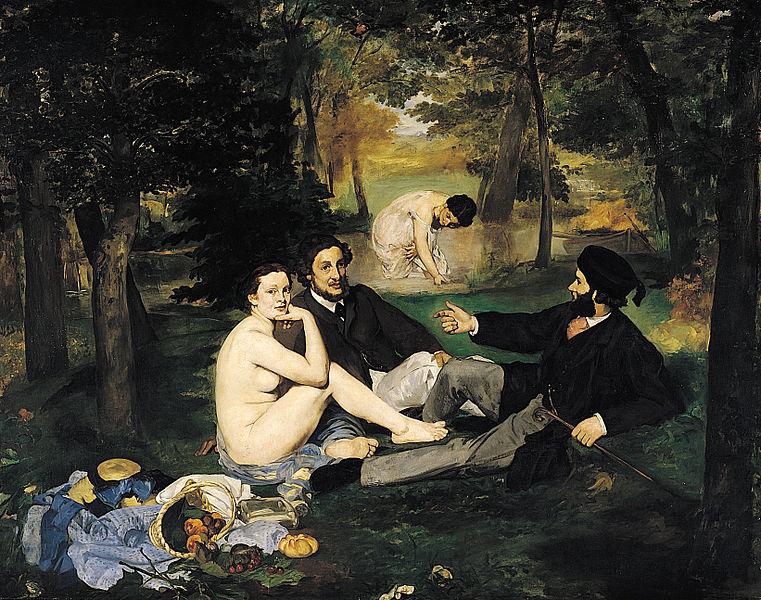 Almuerzo sobre la hierba, de Édouard Manet.