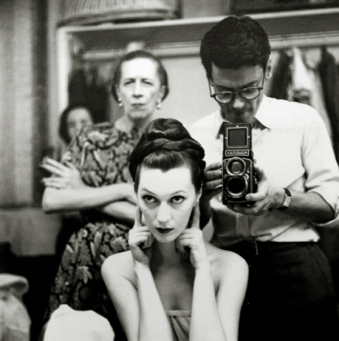 Diana Vreeland Dovima and Richard Avedon 1955
