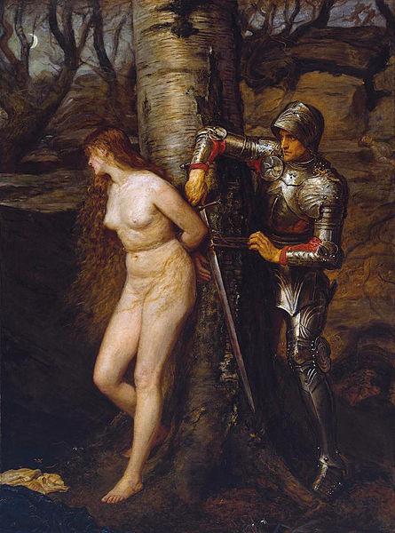El caballero errante, de John Everett Millais.