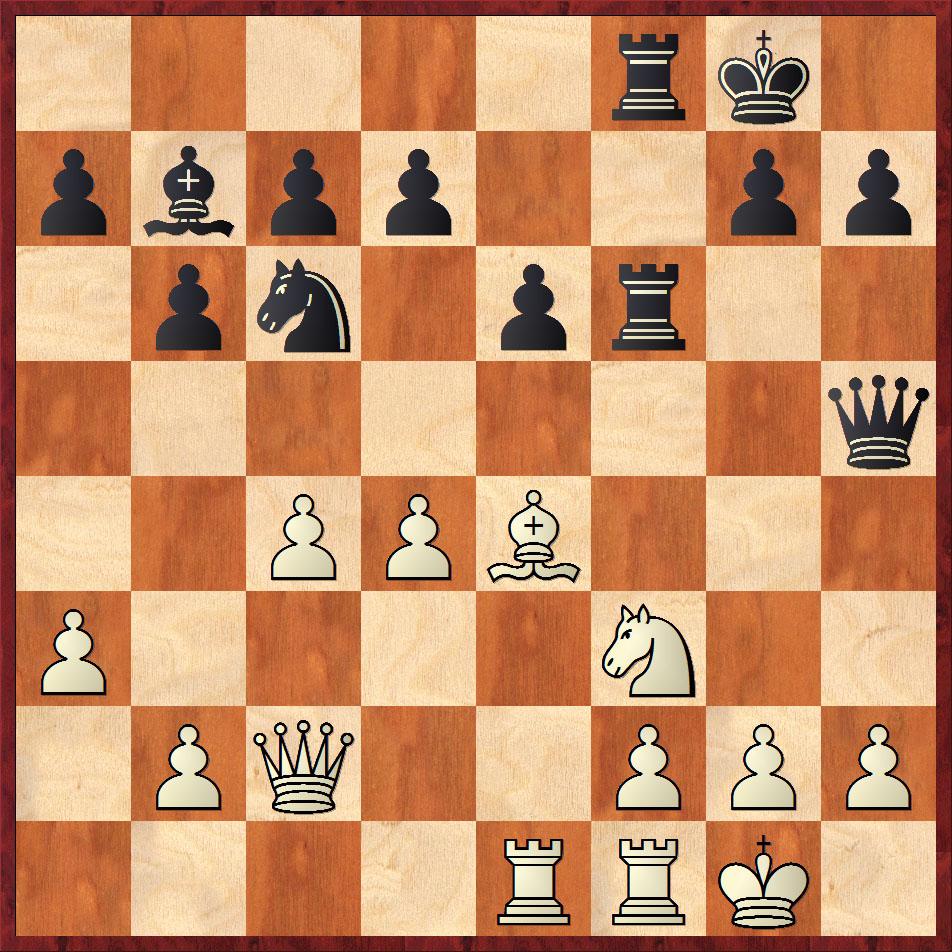 Figura 3. Posición de ajedrez (partida del autor en playchess.com), juegan negras y arrasan.