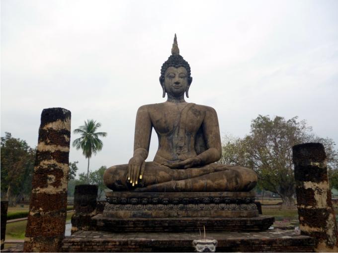 Buda, a punto de alcanzar la iluminación en Sukhothai. Foto: Ernesto Filardi.