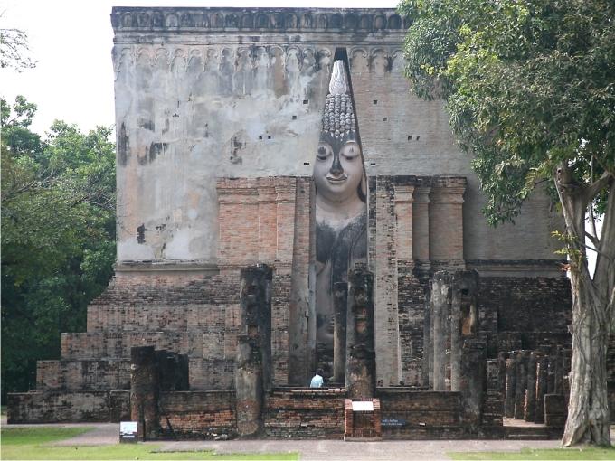 Vista de Wat Si Chum desde el exterior. Foto: Richard Seaman (CC)