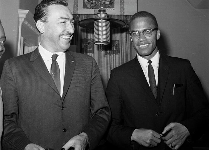 Malcolm X con Clayton Powell