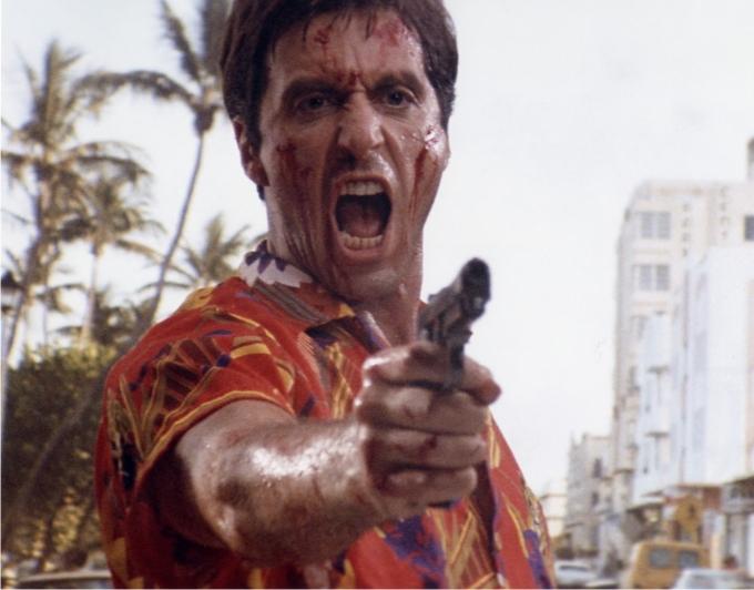 Al Pacino en «Scarface», 1983.
