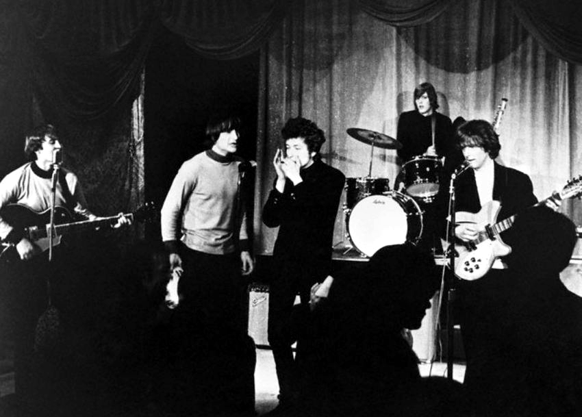 The Byrds con Bob Dylan. Foto: The World Famous Comedy Store (CC)