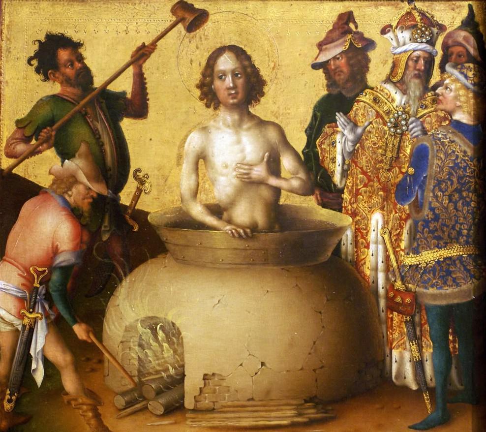 El martirio de San Juan Evangelista, de Stephan Lochner.