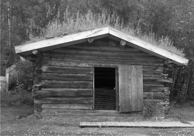 La cabaña reconstruida de Jack London en Dawson City. Foto: Diego Rasskin.
