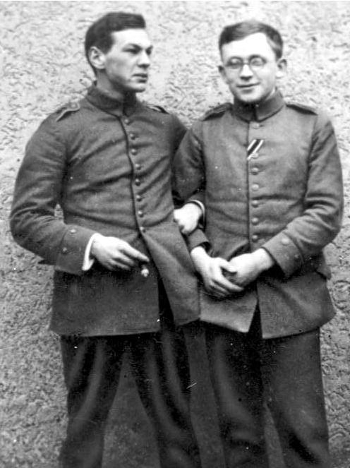 Richard Sorge con Erich Correns en la Primera Guerra Mundial. Foto: German Federal Archive (DP)