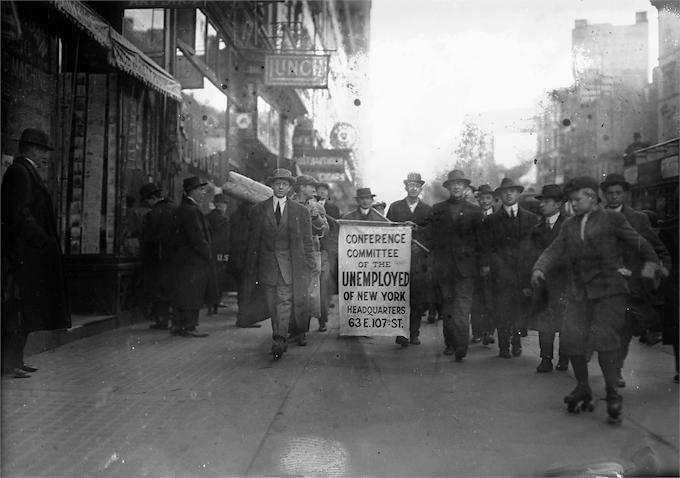 Una manifestación anarquista en Nueva York en 1914. Fotografía Bain News Service Library of Congress DP