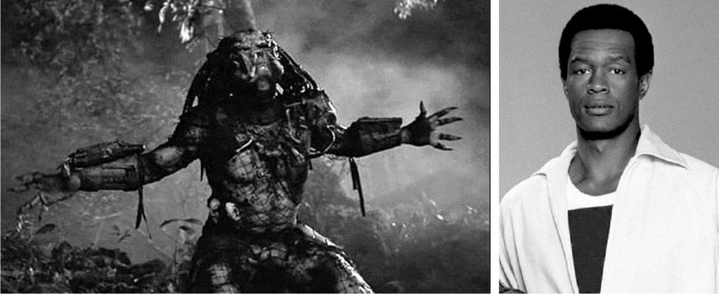 Predator y Kevin Peter Hall, el hombre bajo su máscara. Imágenes: 20th Century Fox.