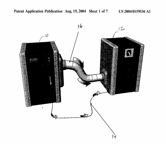Figura 1 de la patente del Slingshot  Fuente: http://www.rexresearch.com/kamen/04159536.pdf
