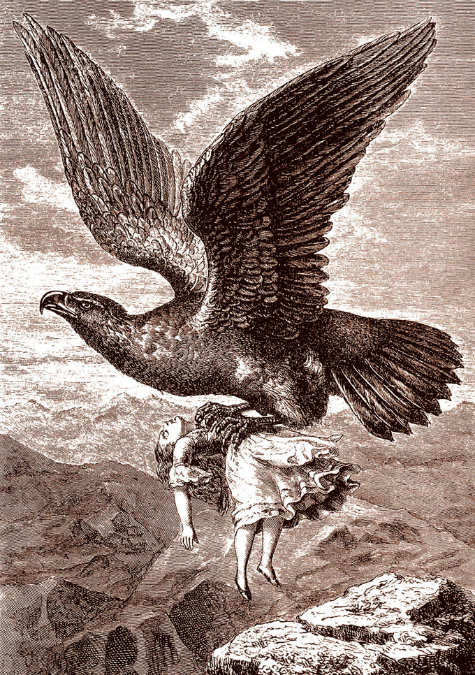 15. Marie Delex carried off by eagle 1838