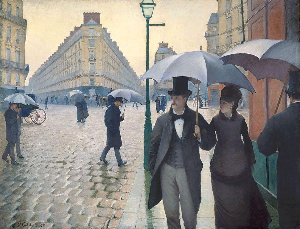 Calle de París, día lluvioso, de Gustave Caillebotte.
