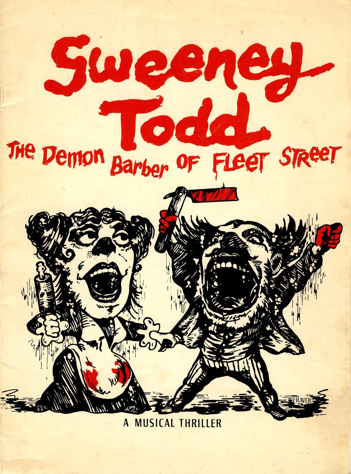 Cartel de Sweeney Todd.