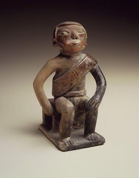 Coquero, una figura inca masticando coca. Foto: Museo de Brooklyn (DP)