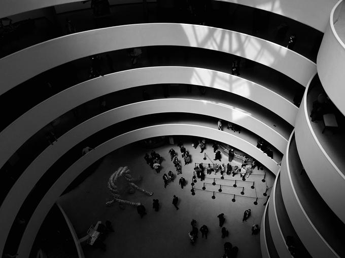 Interior del Museo Solomon Guggenheim de Nueva York. Fotografía Rosino CC