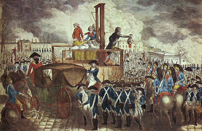 La ejecución de Luis XVI Georg Heinrich Sieveking 1793.