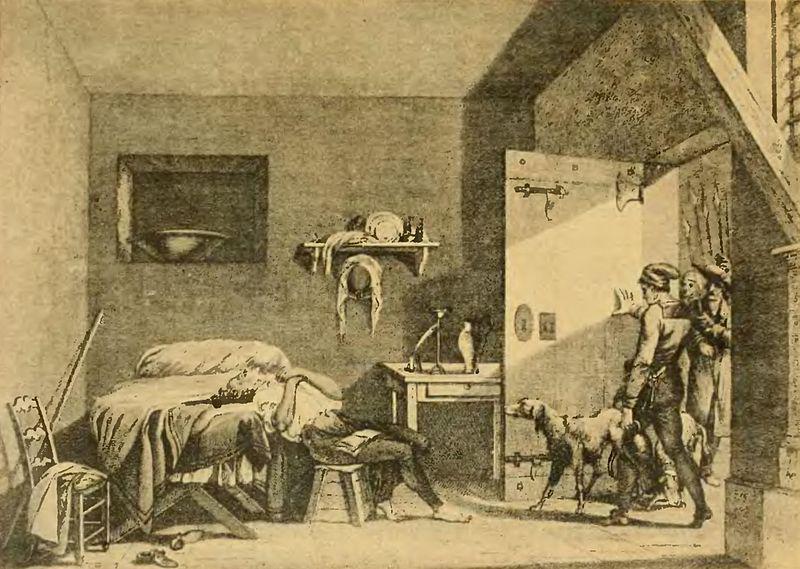 La muerte de Condorcet en prisión, de Alexandre-Évariste Fragonard.