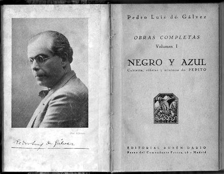 Interior del libro Begro y Azul, de Pedro Luis de Gálvez. Foto: DP.