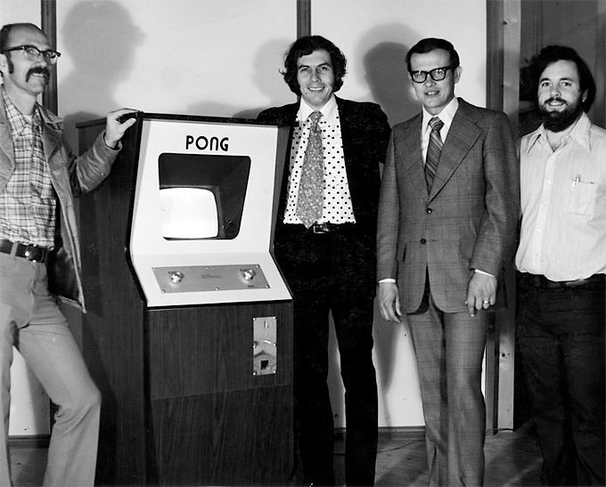 Ted Dabney and Nolan Bushnell with Fred Marincic and Al Alcorn Computer History Museum