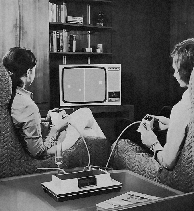 Tennis one of the twelve games included in the Odyssey Home Entertainment System Magnavox 1972